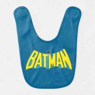 Batman   Vintage Yellow Blue Logo Bib