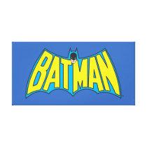 Batman | Vintage Yellow Blue Logo Canvas Print