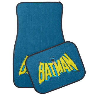 Batman | Vintage Yellow Blue Logo Car Mat