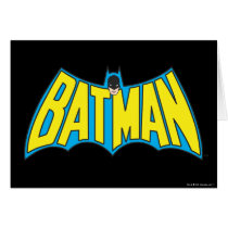 Batman | Vintage Yellow Blue Logo Card