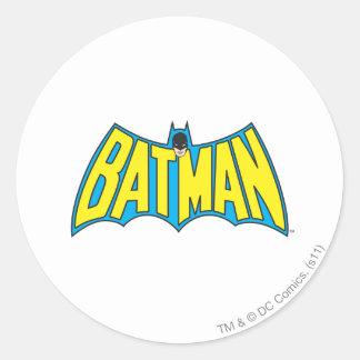 Batman | Vintage Yellow Blue Logo Classic Round Sticker