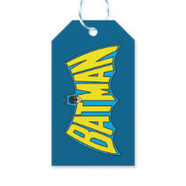 Batman | Vintage Yellow Blue Logo Gift Tags