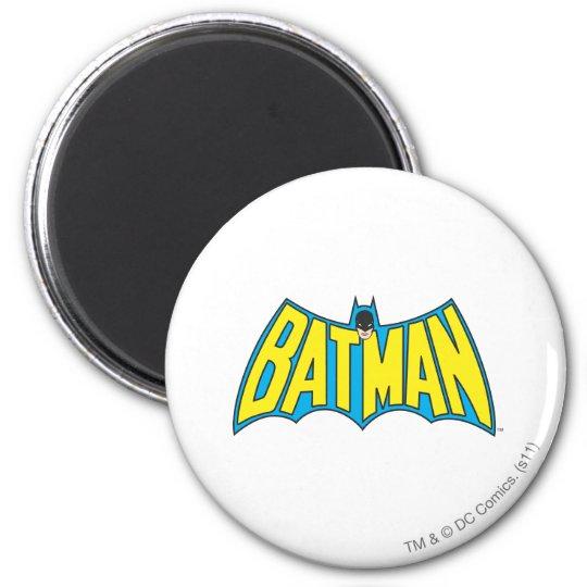 Batman | Vintage Yellow Blue Logo Magnet