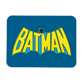 Batman | Vintage Yellow Blue Logo Magnet