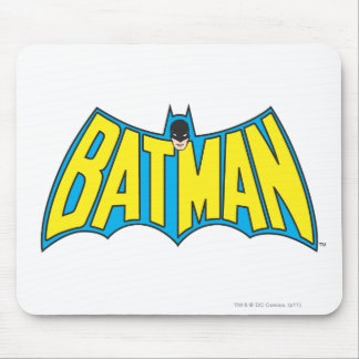 Batman | Vintage Yellow Blue Logo Mouse Pad