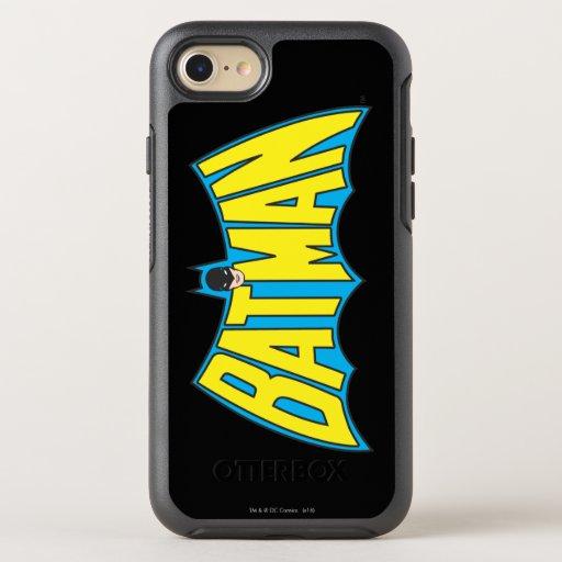 Batman | Vintage Yellow Blue Logo OtterBox Symmetry iPhone SE/8/7 Case