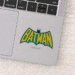 Batman   Vintage Yellow Blue Logo Sticker