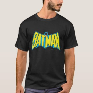 Batman | Vintage Yellow Blue Logo T-Shirt