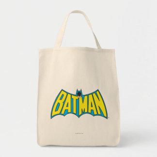 Batman | Vintage Yellow Blue Logo Tote Bag