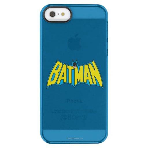 Batman | Vintage Yellow Blue Logo Clear iPhone SE/5/5s Case
