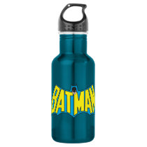 Batman | Vintage Yellow Blue Logo Water Bottle