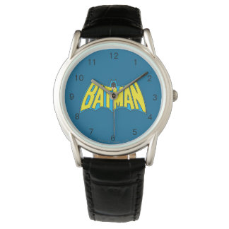Batman   Vintage Yellow Blue Logo Wrist Watch