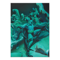 invitations, batman, bat man, comic book, batman comic cover, dc comics, super hero, superhero, bruce wayne, villains, bane, mr freeze, fighting, action, Invitation with custom graphic design