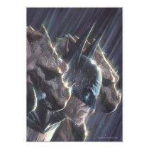 invitations, batman, bat man, comic book, batman comic cover, dc comics, super hero, superhero, bruce wayne, villains, rain, gargoyle, Invitation with custom graphic design