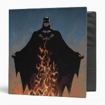 batman, bat man, comic book, batman comic cover, dc comics, super hero, superhero, bruce wayne, villains, fire, flames, Binder with custom graphic design
