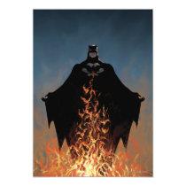 invitations, batman, bat man, comic book, batman comic cover, dc comics, super hero, superhero, bruce wayne, villains, fire, flames, Invitation with custom graphic design