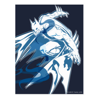 Batman Water Tonal Collage Postcard