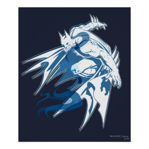 Batman Water Tonal Collage Poster