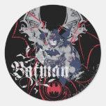 Batman Wing Collage Classic Round Sticker