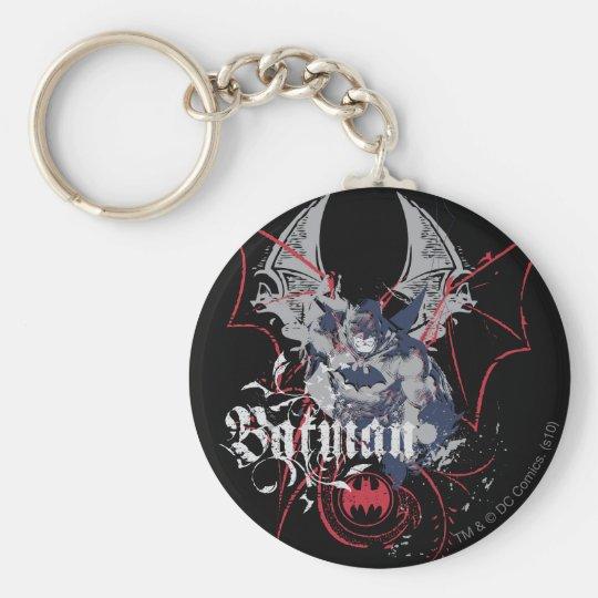 Batman Wing Collage Keychain