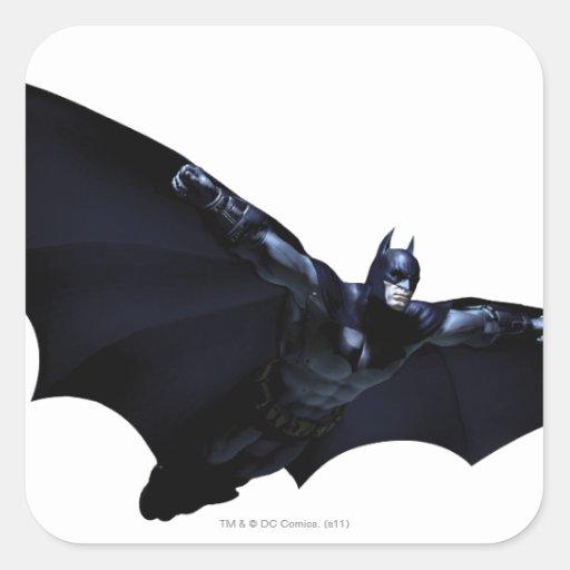 Batman Wings Spread Square Stickers