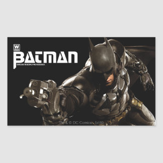 Batman With Batclaw Rectangular Sticker