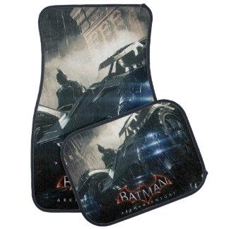 Batman With Batmobile In The Rain Car Mat
