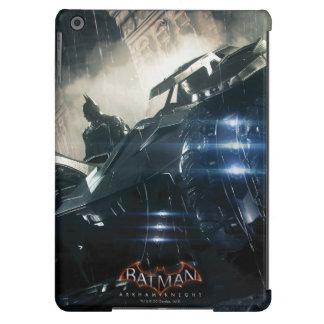 Batman With Batmobile In The Rain iPad Air Cover