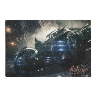 Batman With Batmobile In The Rain Placemat