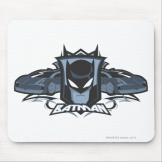 Batman with Batmobiles Mousepad