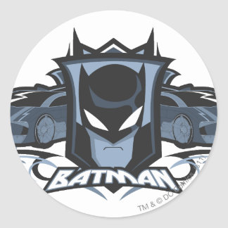 Batman with Batmobiles Sticker