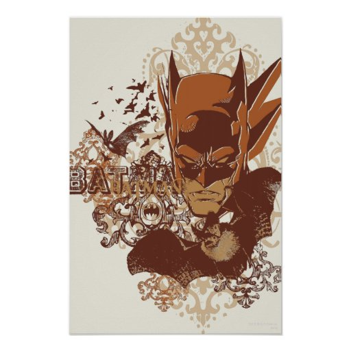 Batman with Bats Collage Poster