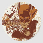 Batman with Bats Collage Round Stickers
