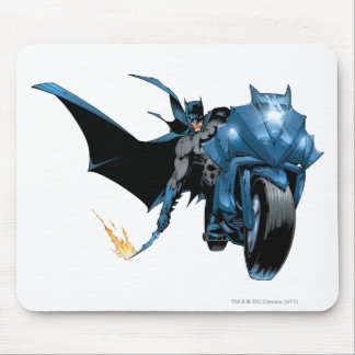 Batman with Cycle Mouse Pad
