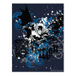 Batman with Knotwork Collage Postcard