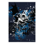 Batman with Knotwork Collage Poster