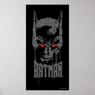 Batman With Mantra Print