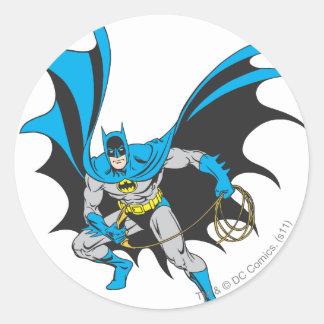 Batman with Rope Classic Round Sticker