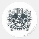 Batman with Snakes Round Sticker