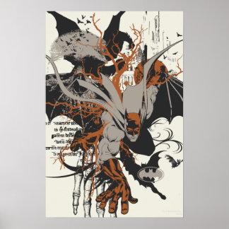 Batman y árbol posters