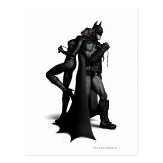 Batman y Catwoman Postales