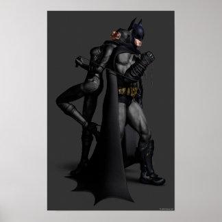 Batman y Catwoman Póster