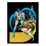 Batman y escape del petirrojo postal