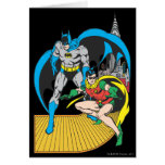 Batman y escape del petirrojo tarjeta de felicitación