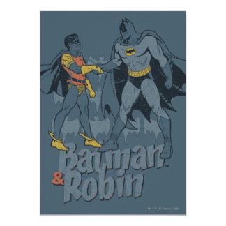 """Batman y gráfico apenado petirrojo invitación 5"""" x 7"""""""