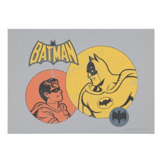 Batman y gráfico del petirrojo - apenado comunicado