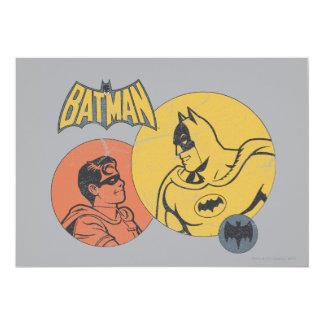 """Batman y gráfico del petirrojo - apenado invitación 5"""" x 7"""""""