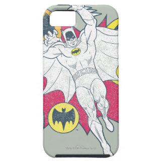 Batman y gráfico del símbolo del palo funda para iPhone SE/5/5s