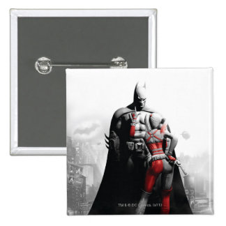 Batman y Harley Pin Cuadrado