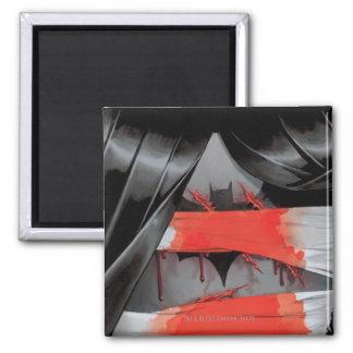 Batman y la cubierta enojada del monje #5 imán cuadrado
